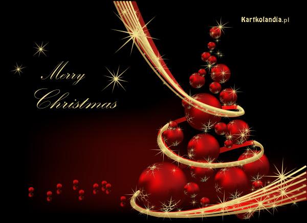 Blask świątecznej choinki