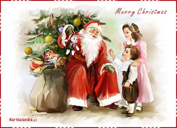 Retro pocztówka świąteczna