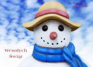 eKartki Boże Narodzenie Bałwanek z życzeniami,