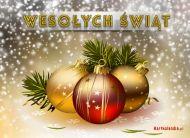 eKartki Boże Narodzenie Bańki na Boże Narodzenie,