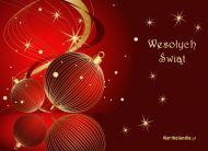 eKartki elektroniczne z tagiem: Kartka bożonarodzeniowa Bombki na święta,
