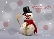 eKartki Boże Narodzenie Bożonarodzeniowy bałwan,