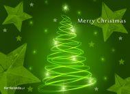 eKartki Boże Narodzenie Choinka zielona,