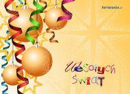 eKartki Boże Narodzenie Choinkowe bombki,