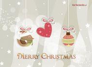 eKartki Boże Narodzenie Choinkowe zawieszki,