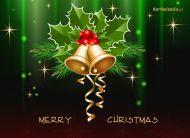 eKartki elektroniczne z tagiem: Kartka bożonarodzeniowa Dzwoneczki na kartce,