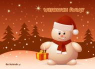 eKartki elektroniczne z tagiem: Kartki bożonarodzeniowe e-Kartka z bałwankiem,
