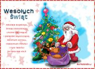eKartki elektroniczne z tagiem: Kartka bożonarodzeniowa e-Kartka z Mikołajem,