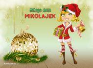 eKartki Boże Narodzenie Miła Mikołajka,