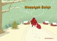 eKartki Boże Narodzenie Nadchodzący Mikołaj,
