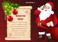 eKartki Boże Narodzenie Obwieszczenie Mikołaja,