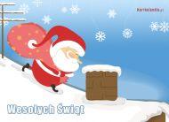 eKartki Boże Narodzenie Pędzący Mikołaj,