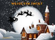 eKartki Boże Narodzenie Sanie Mikołaja,