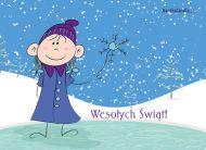 eKartki Boże Narodzenie Śnieżynka,