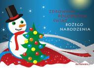 eKartki Boże Narodzenie Świąteczny bałwanek,