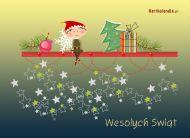 eKartki Boże Narodzenie Świąteczny skrzat,