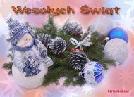 eKartki Boże Narodzenie Święta z bałwankiem,