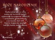 eKartki Boże Narodzenie Tradycyjne życzenia,