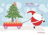 eKartki Boże Narodzenie Zapracowany Mikołaj,