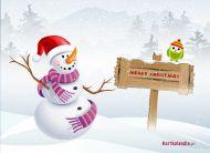 eKartki elektroniczne z tagiem: Kartka bożonarodzeniowa Zaśnieżone życzenia,