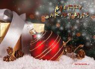 eKartki Boże Narodzenie Zaśnieżony prezent,