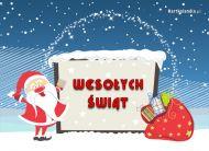 eKartki Boże Narodzenie Życzenia wśród śniegu,