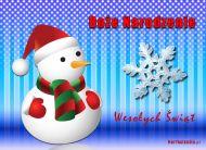 eKartki Boże Narodzenie Bożonarodzeniowy bałwanek,