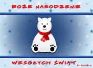 eKartki Boże Narodzenie Bożonarodzeniowy miś,