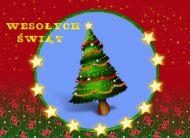 eKartki elektroniczne z tagiem: Kartka na Bo¿e Narodzenie Choinka zielona,