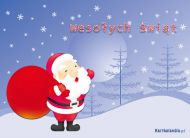 eKartki Boże Narodzenie Mikołaj z życzeniami,