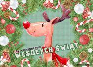 eKartki elektroniczne z tagiem: Kartka bożonarodzeniowa Kartka z reniferem,