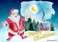 eKartki elektroniczne z tagiem: Kartka bożonarodzeniowa Święty Mikołaj składa życzenia,