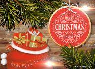 eKartki elektroniczne z tagiem: Kartka bożonarodzeniowa Worek prezentów i życzeń,