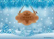 eKartki elektroniczne z tagiem: Kartka bożonarodzeniowa Zaśnieżone Boże Narodzenie,