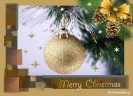 eKartki Boże Narodzenie Złota bombka,