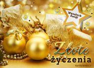 eKartki elektroniczne z tagiem: eKartka ¶wi±teczna Z³ote Bo¿e Narodzenie,