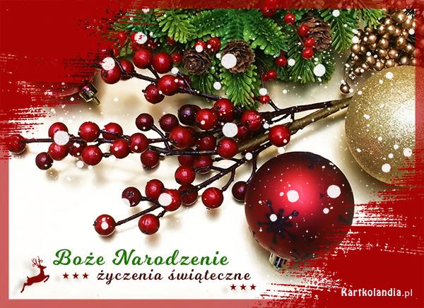 eKartki elektroniczne z tagiem: Bożonarodzeniowy Stroik Życzenia świąteczne,