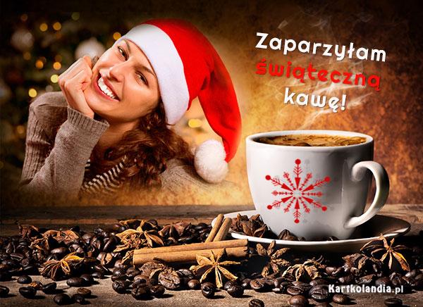 Zaparzyłam świąteczną kawę ...
