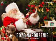 eKartki elektroniczne z tagiem: Kartki Mikołaj Boże Narodzenie usłane prezentami ...,