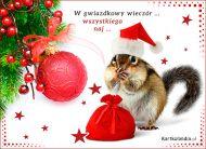eKartki elektroniczne z tagiem: e-Kartka bożonarodzeniowa Gwiazdkowy wieczór,