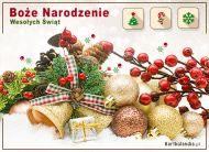 eKartki elektroniczne z tagiem: Darmowe e-kartki mikołajkowe Kartka - Wesołych Świąt,