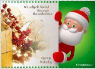 eKartki elektroniczne z tagiem: e-Kartka bożonarodzeniowa Odwiedziny Mikołaja,