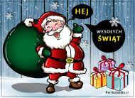 eKartki elektroniczne z tagiem: eKartka bożonarodzeniowa Pozdrowienia od Mikołaja,