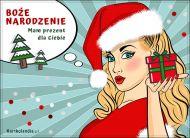 eKartki Boże Narodzenie Prezent od Mikołajki,