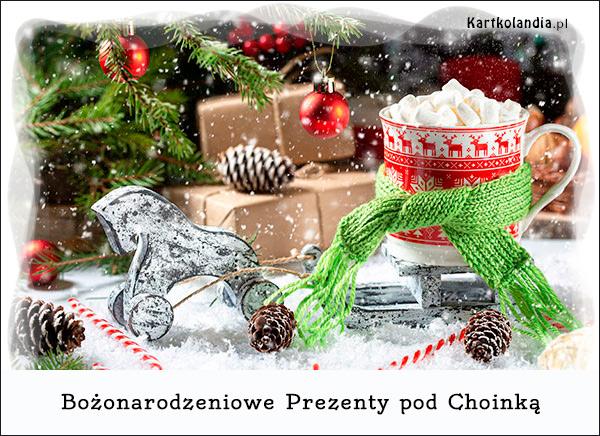 eKartki elektroniczne z tagiem: Kawa Bożonarodzeniowe prezenty pod choinką,