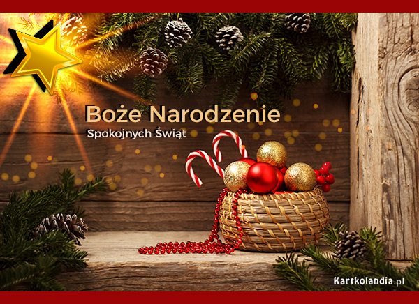 eKartki elektroniczne z tagiem: Bożonarodzeniowy Stroik Gwiazdka betlejemska,
