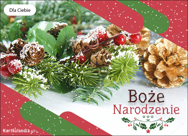 eKartki elektroniczne z tagiem: Bożonarodzeniowy Stroik Kartka Śnieżne Boże Narodzenie,