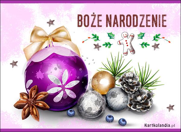eKartki elektroniczne z tagiem: Bożonarodzeniowy Stroik Kartka z bombkami,