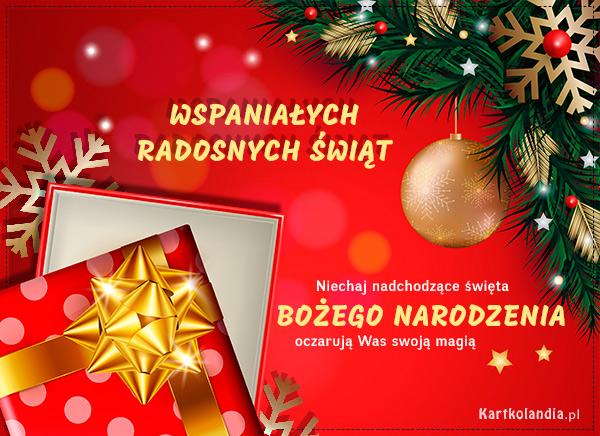 eKartki elektroniczne z tagiem: Bożonarodzeniowy Stroik Magia Bożego Narodzenia,