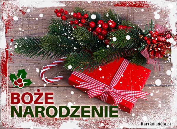 eKartki elektroniczne z tagiem: Bożonarodzeniowy Stroik Pocztówka z okazji świąt!,